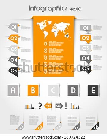 orange infographics with long