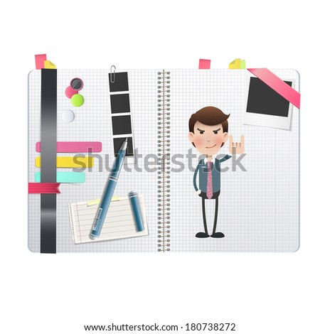 businessman printed over