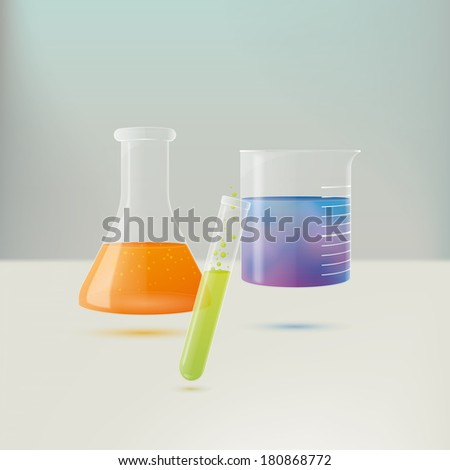 chemistry equipment vector