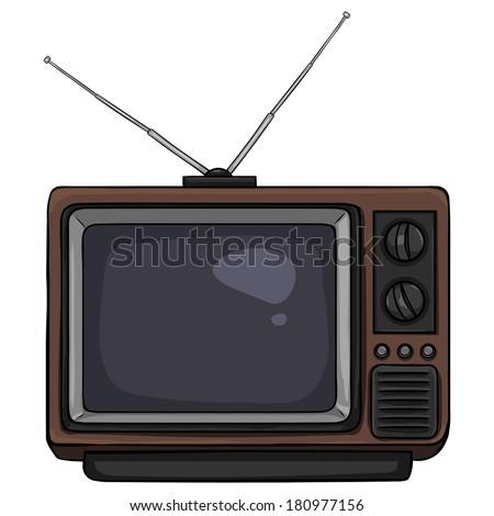 vector cartoon retro tv