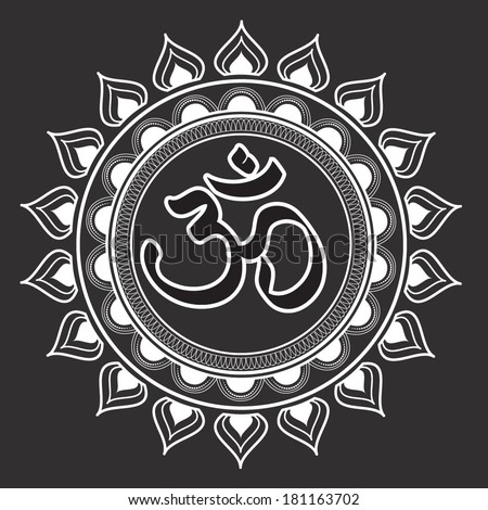vector illustration of an om