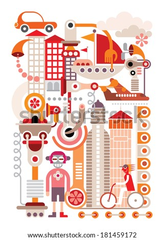 cityscape   isolated vector