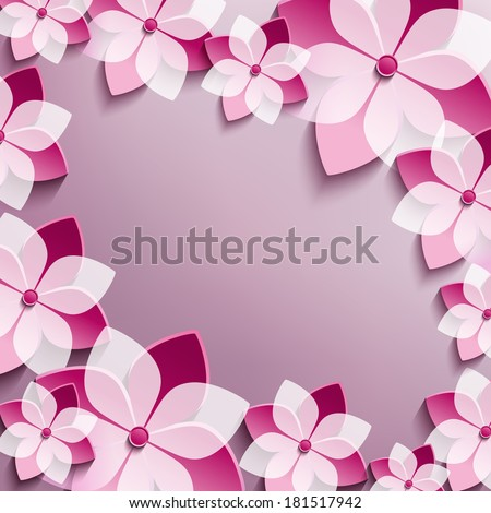 floral festive frame with pink