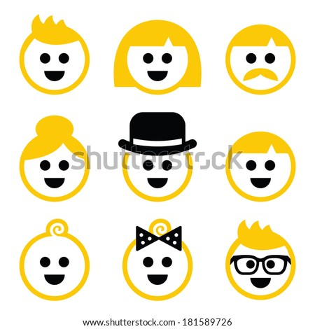 people with blond hair vector