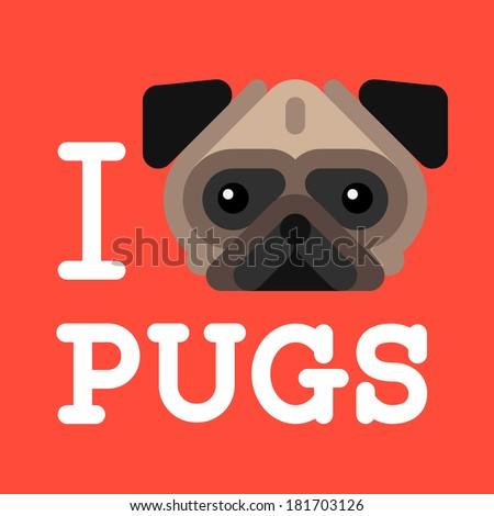 i love pugs cute fashion