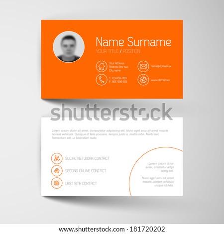 modern simple orange business