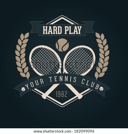 hand crafted tennis lettering