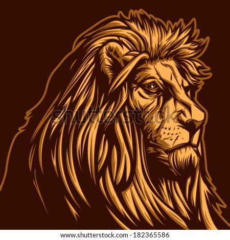 lion vector graphic for general