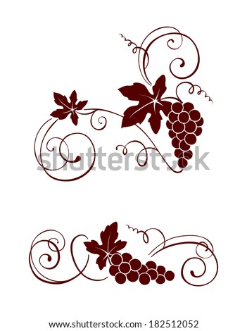 design element   vine with