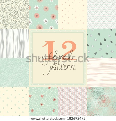 12 elegant romantic vector