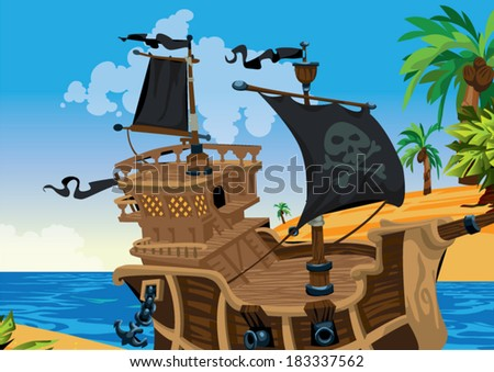 pirate vector background