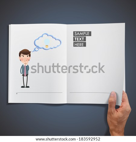 businessman printed on