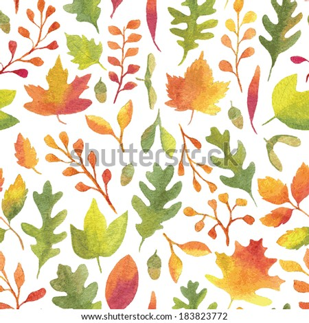 colorful autumn leaves seamless