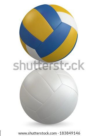 realistic volleyballvector