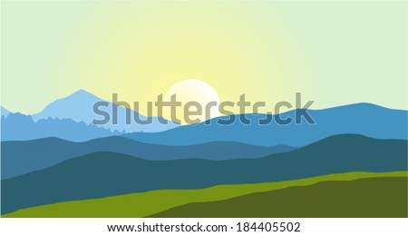 beautiful mountain landscape in