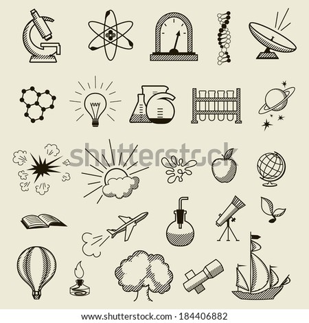 science set of pictures a