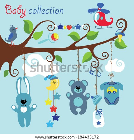 newborn elements for baby boy