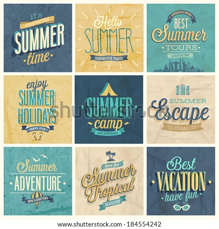 summer set   labels and emblems