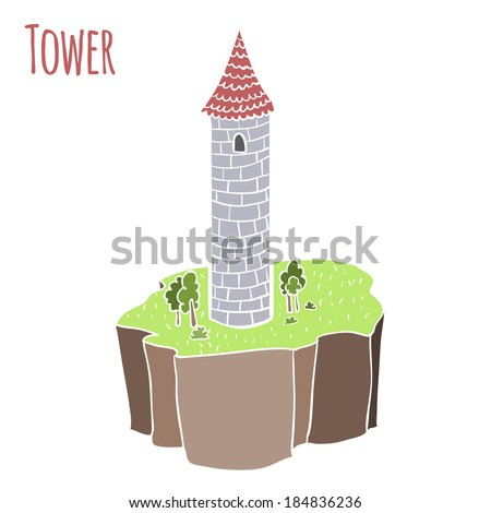 princess tower vector