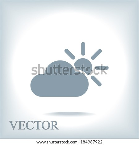weather web icon  vector