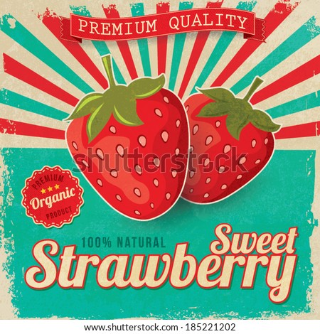 colorful vintage strawberry