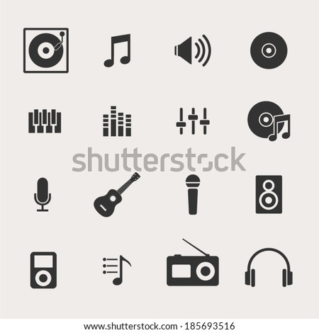 music icon set