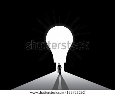 businessman silhouette standing