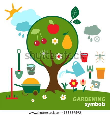vector gardening icons