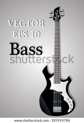 vector bass guitar