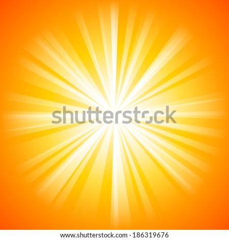 summer orange background with