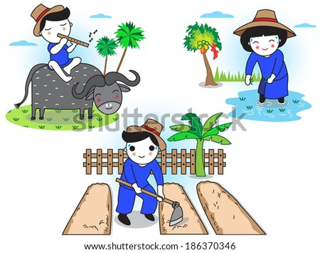 thai farmers daily life