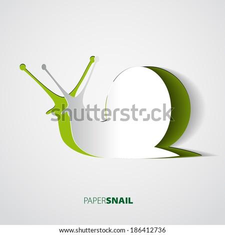 snail papercut vector