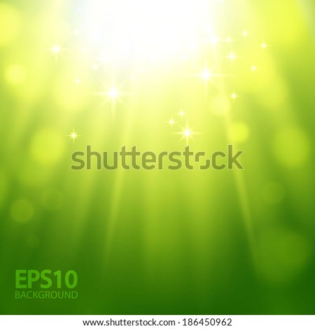 green light bokeh background