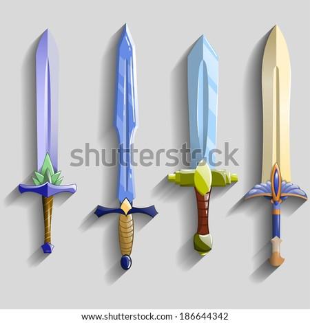 vector swords set   vector