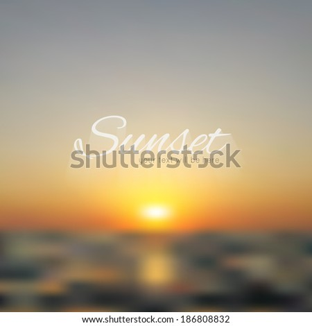 sunset and sunrise summer