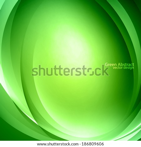 green abstract vector design