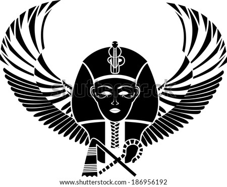egyptian pharaon with wings