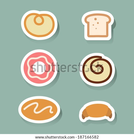 bread icons set