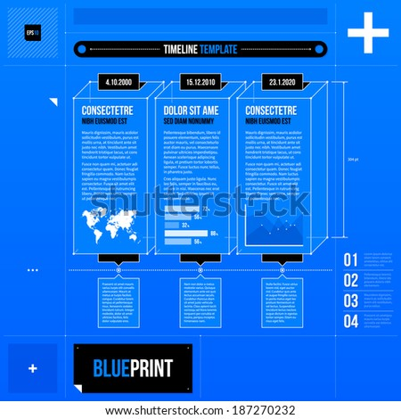 vector timeline template with