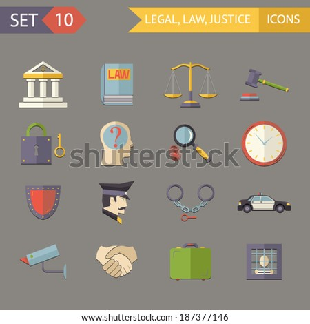 retro flat law legal justice