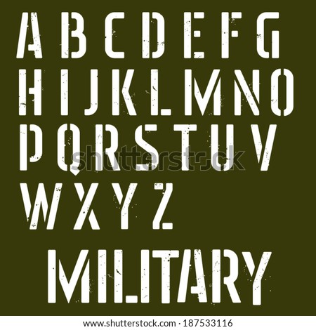 military stencil vector font