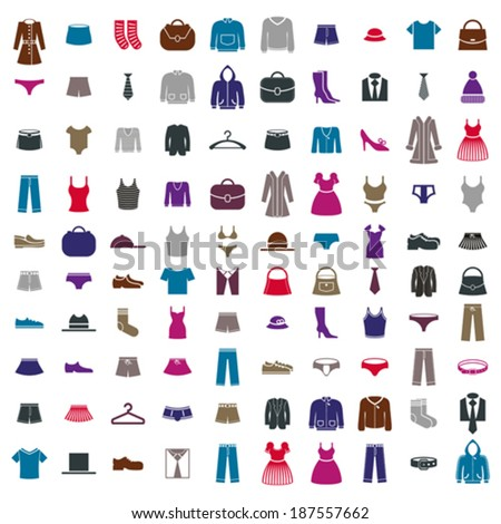 clothes icon vector set  vector
