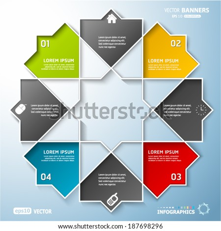 abstract round infographic shape