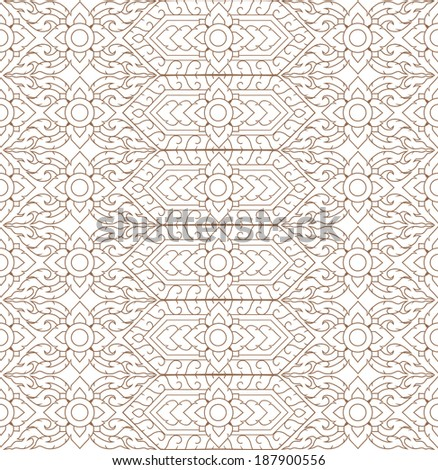 line thai background art vector