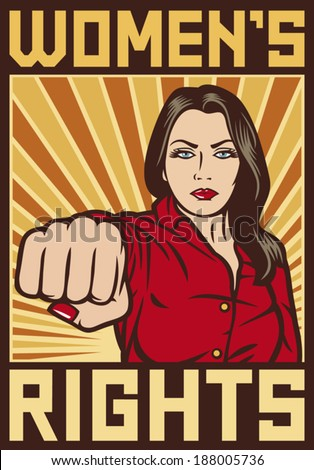 women s rights poster   pop art