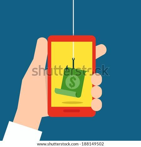 phishing concept flat design