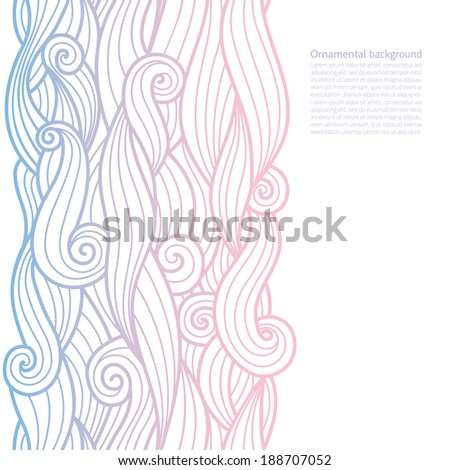 vector waves ornate background