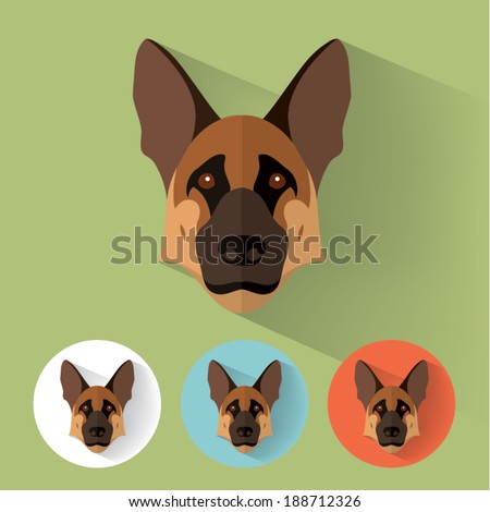 animal portrait with flat