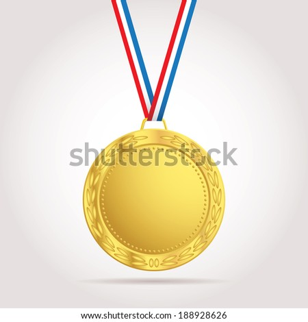 vector golden medal with