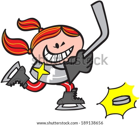 Girl Pitching Clipart Girl Playing Hockey Clipart